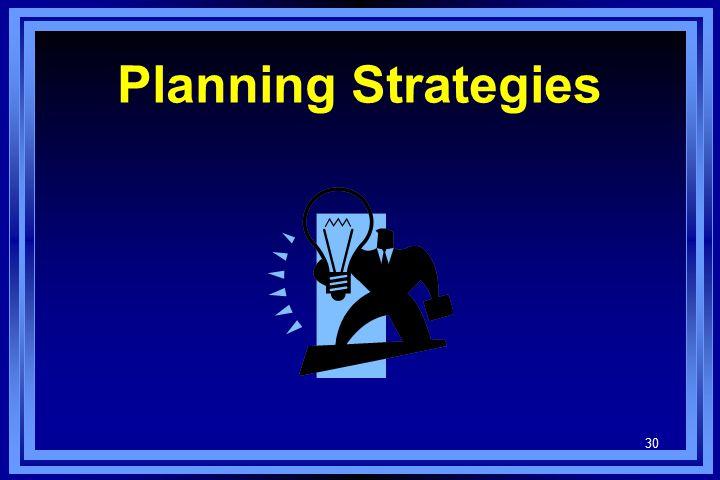 30 Planning Strategies