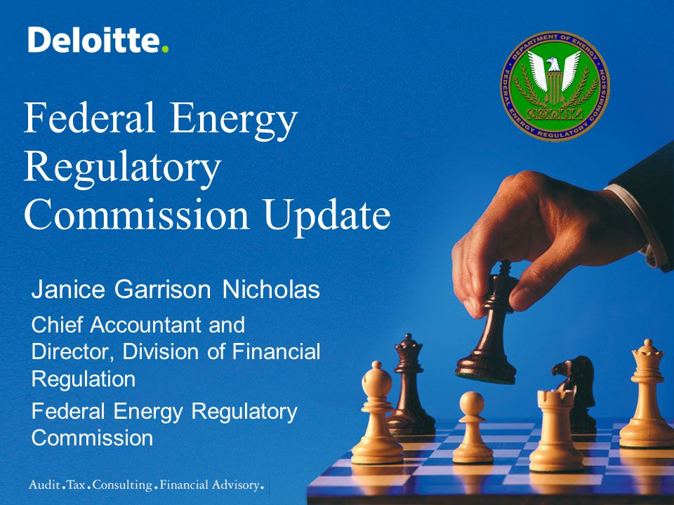 Disclaimer The views and comments presented are my own and do not represent, nor are they to be interpreted to represent the views, comments, or positions of the Federal Energy Regulatory Commission.