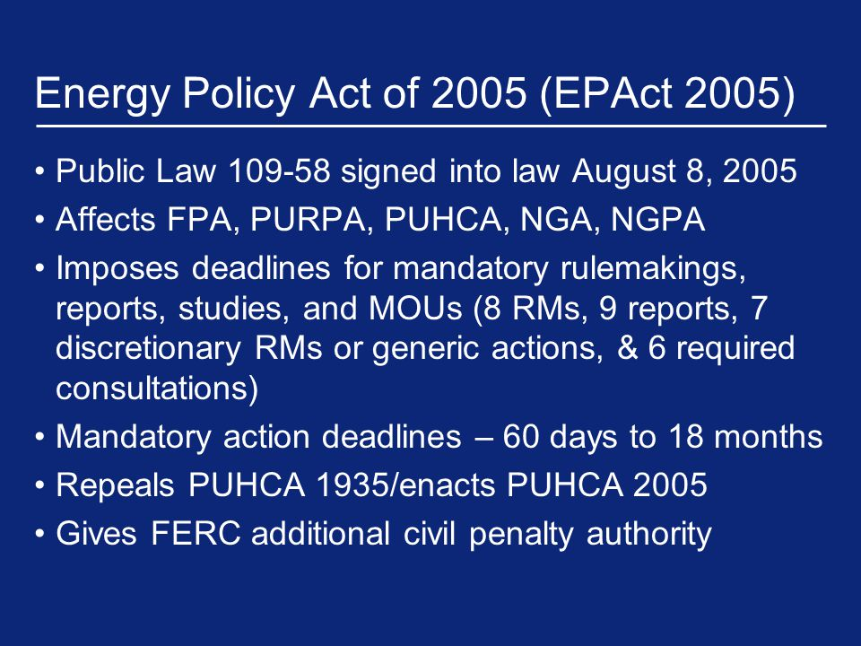 Other Key Commission Actions (Cont'd) NOPR, Market-Based Rates for Wholesale Sales of Electric Energy, Capacity and Ancillary Services by Public Utilities, Docket No.