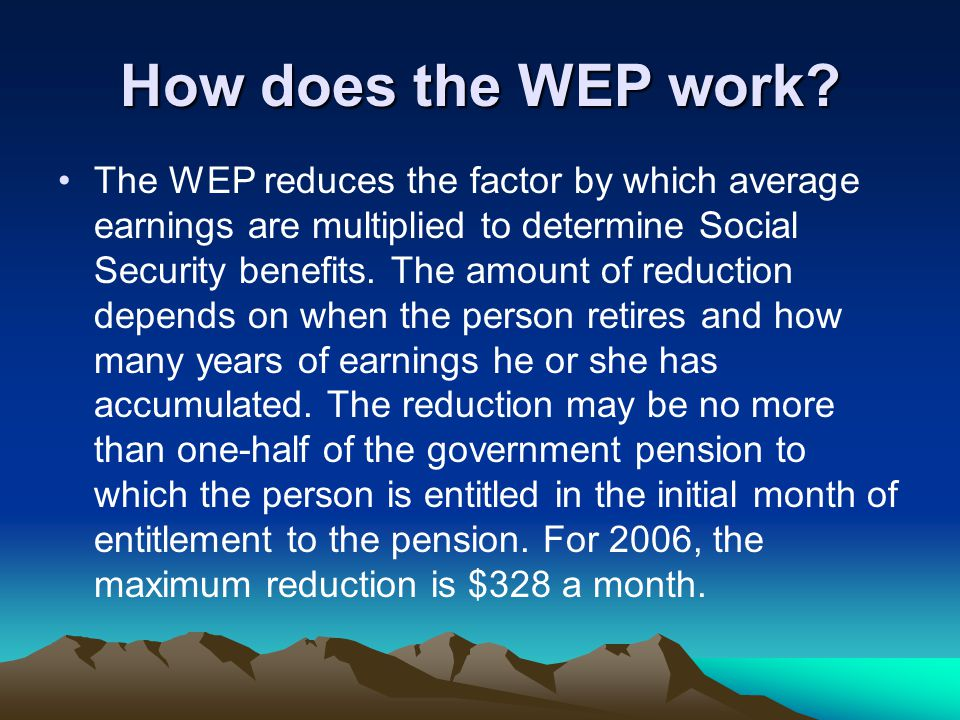 How does the WEP work.