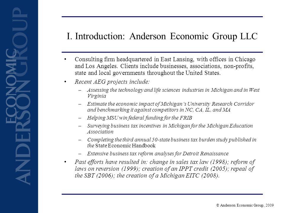 © Anderson Economic Group, 2009 II.