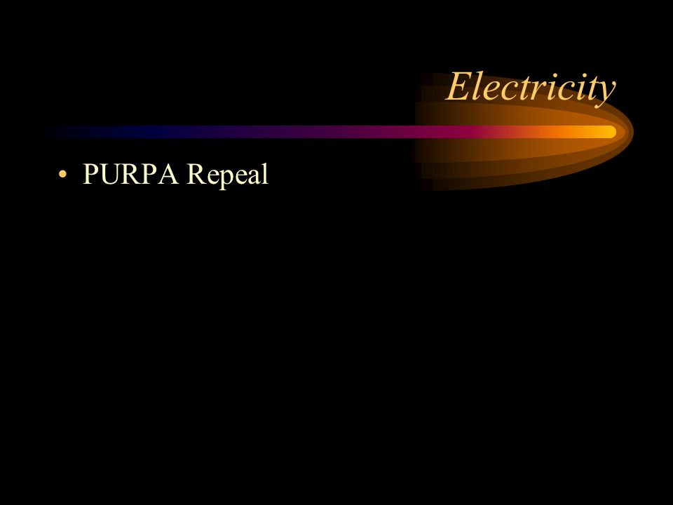 Electricity PURPA Repeal