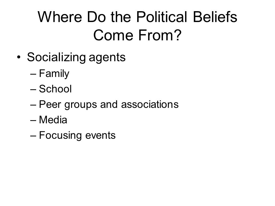 Where Do the Political Beliefs Come From.
