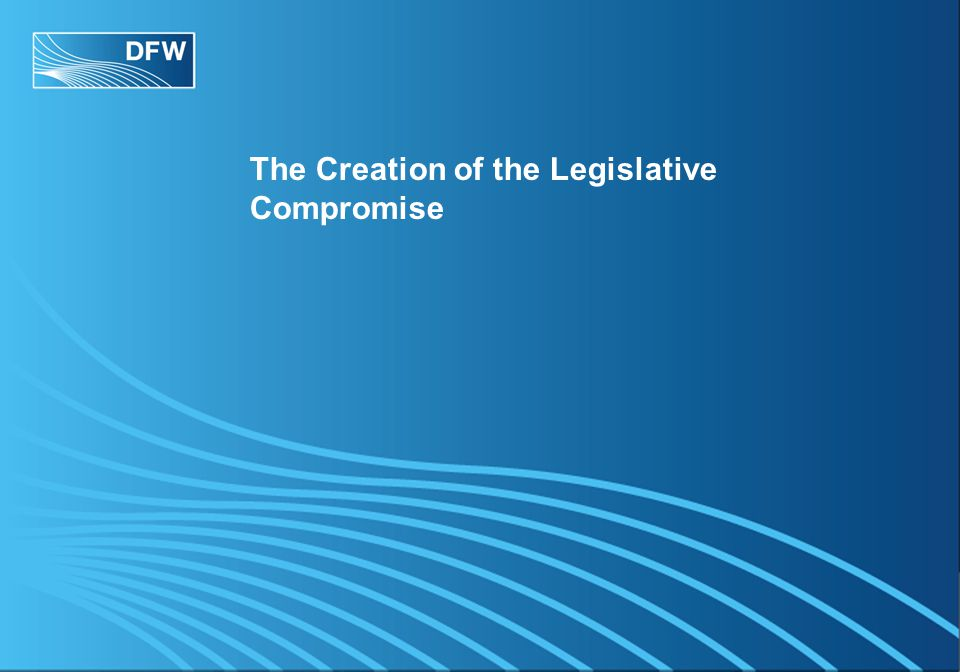 The Creation of the Legislative Compromise