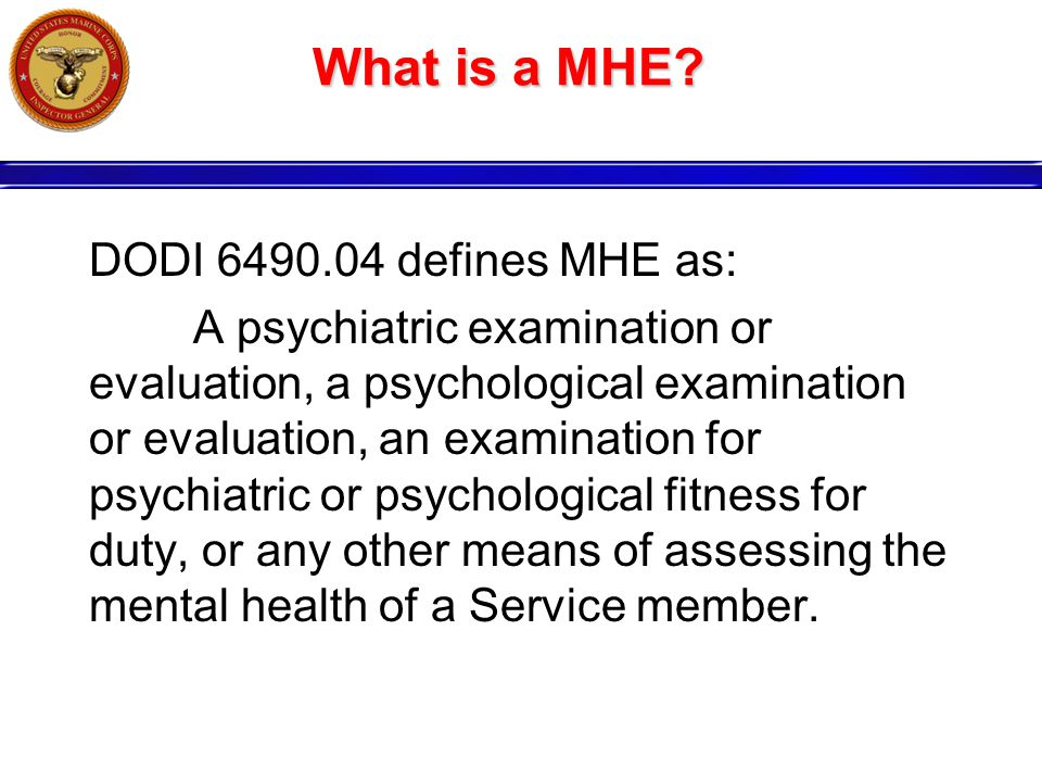 What is a MHE.
