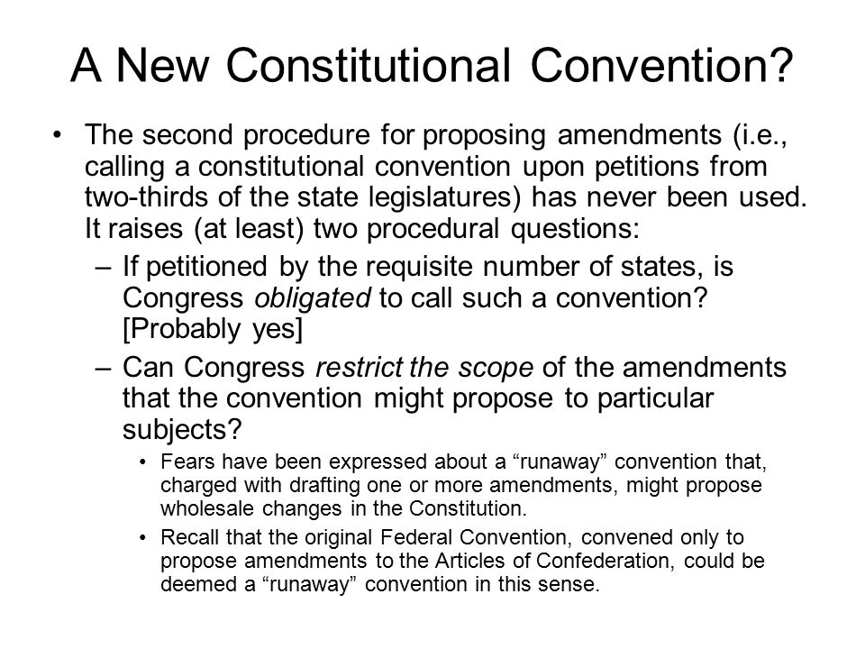 A New Constitutional Convention.
