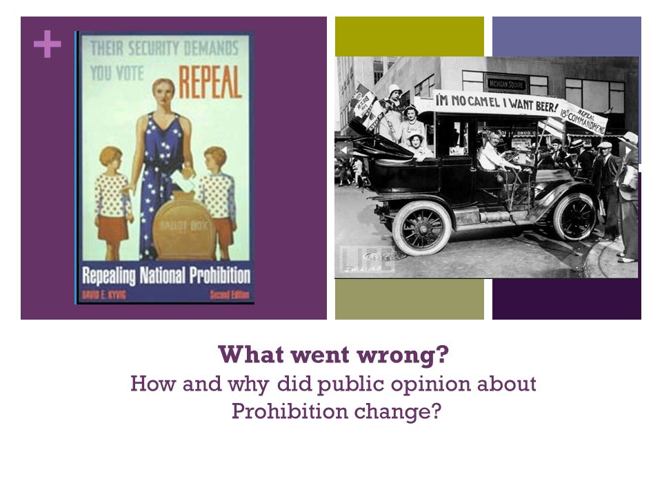 + What went wrong How and why did public opinion about Prohibition change