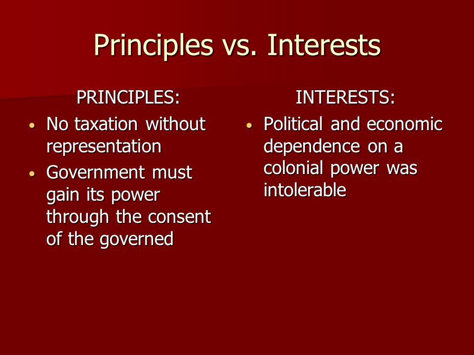 Principles vs.