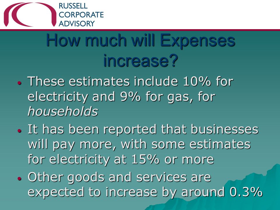 How much will Expenses increase.