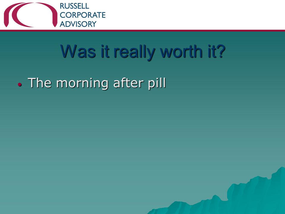 Was it really worth it The morning after pill The morning after pill