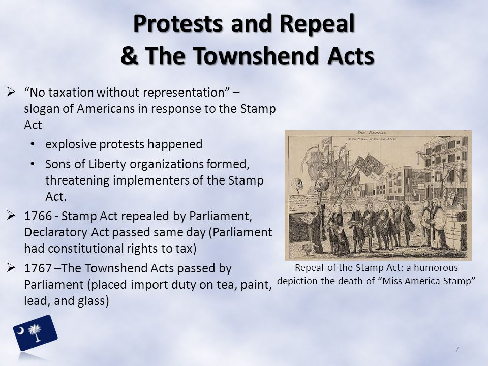 """ """"No taxation without representation"""" – slogan of Americans in response to the Stamp Act explosive protests happened Sons of Liberty organizations fo"""