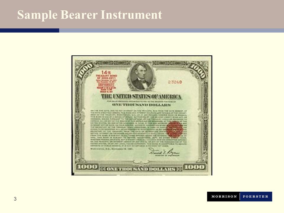 3 Sample Bearer Instrument