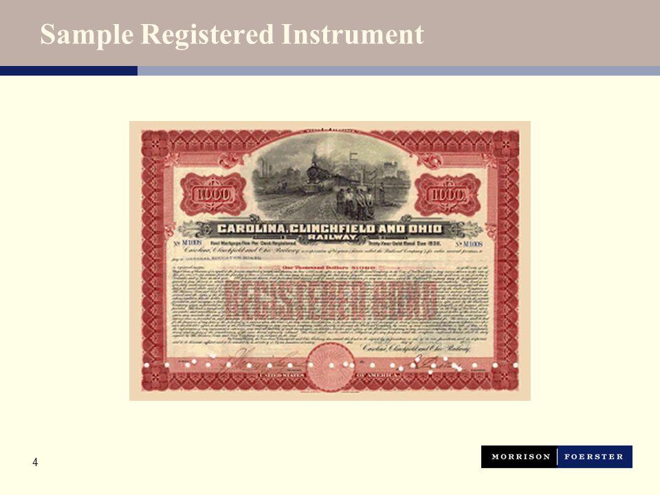 4 Sample Registered Instrument