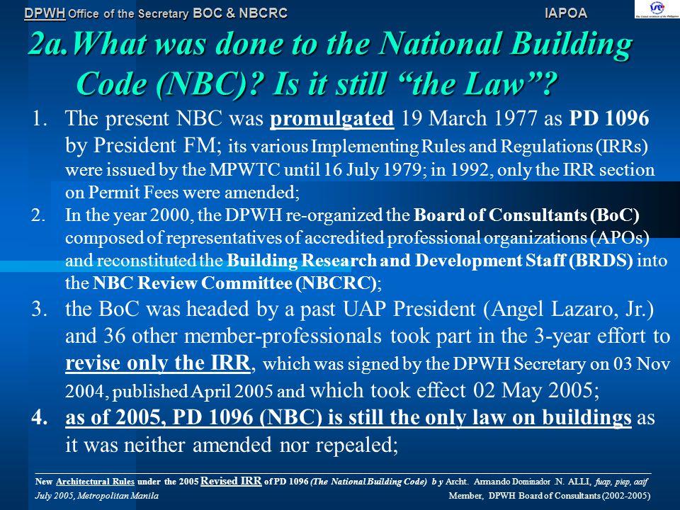 DPWH Office of the Secretary BOC & NBCRC IAPOA 2b.