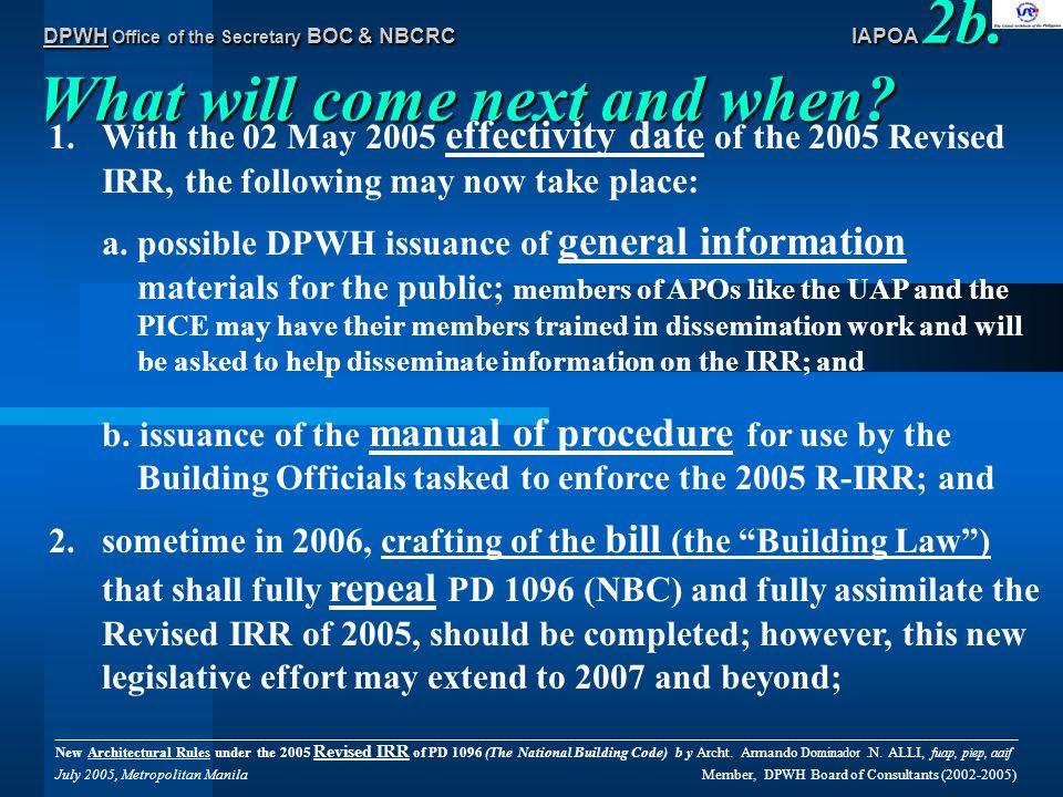 DPWH Office of the Secretary BOC & NBCRC IAPOA 14e.