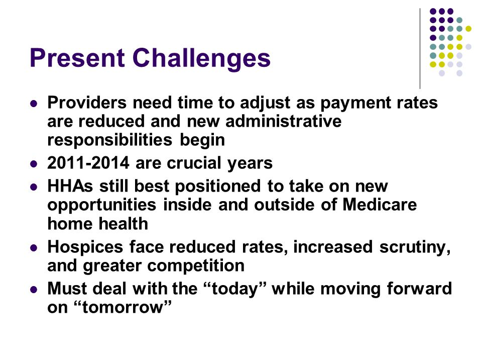 2011: The Medicare Rate Changes Begin.