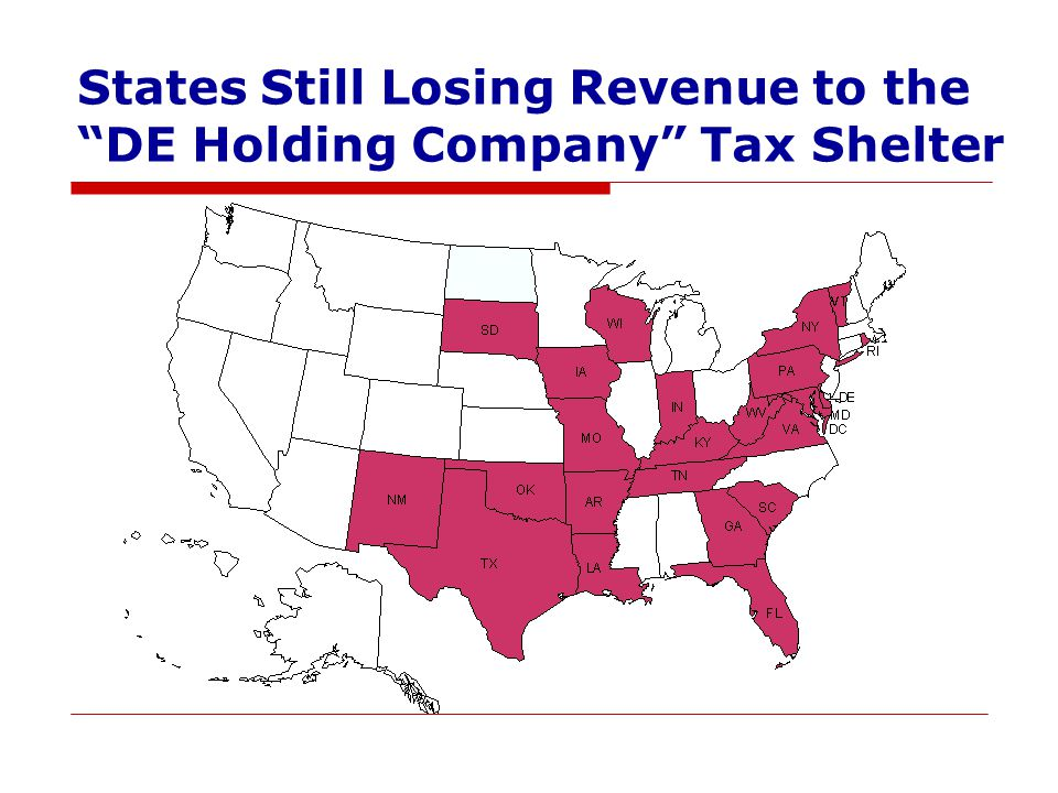 States Still Losing Revenue to the DE Holding Company Tax Shelter