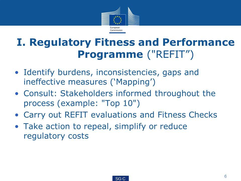 I. Regulatory Fitness and Performance Programme (