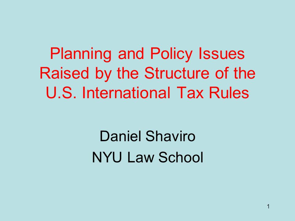 12 (3) Foreign tax credits with limits Worst rules in US int'l taxation.