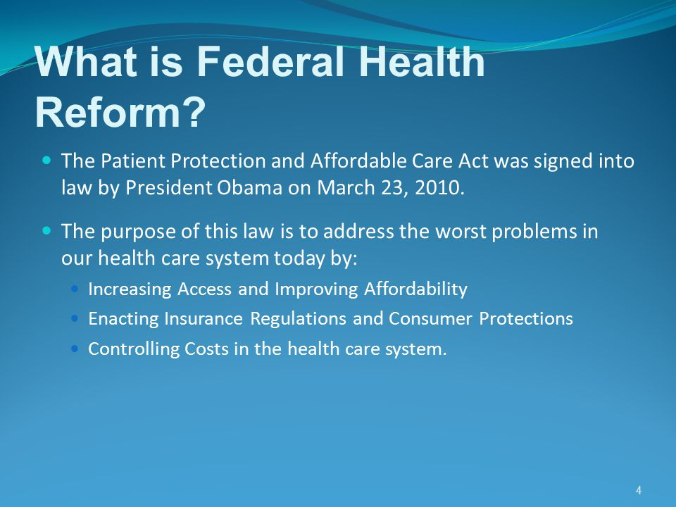 5 How Does Reform Help You.The Health Reform Bill will impact different people in different ways.