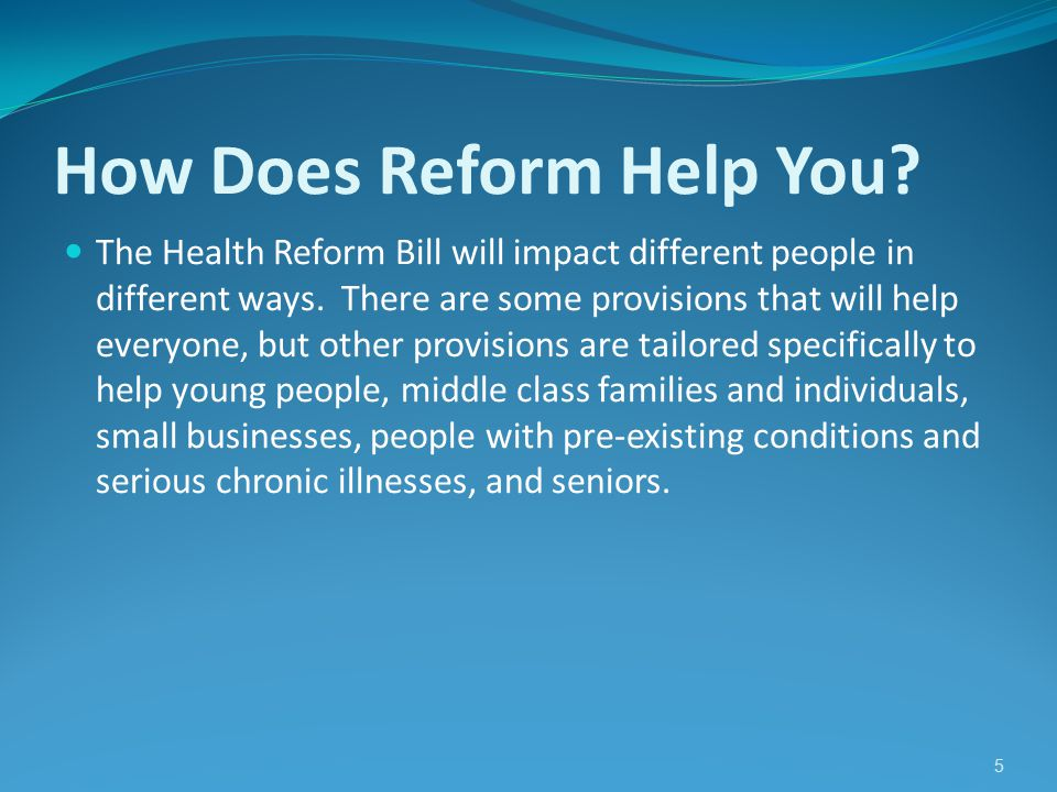 6 How Does Reform Help Seniors.