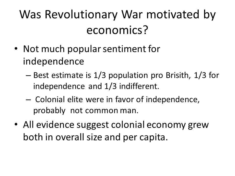 Economic Impact of Revolutionary War Disruption of Trade British emphasize war at sea.