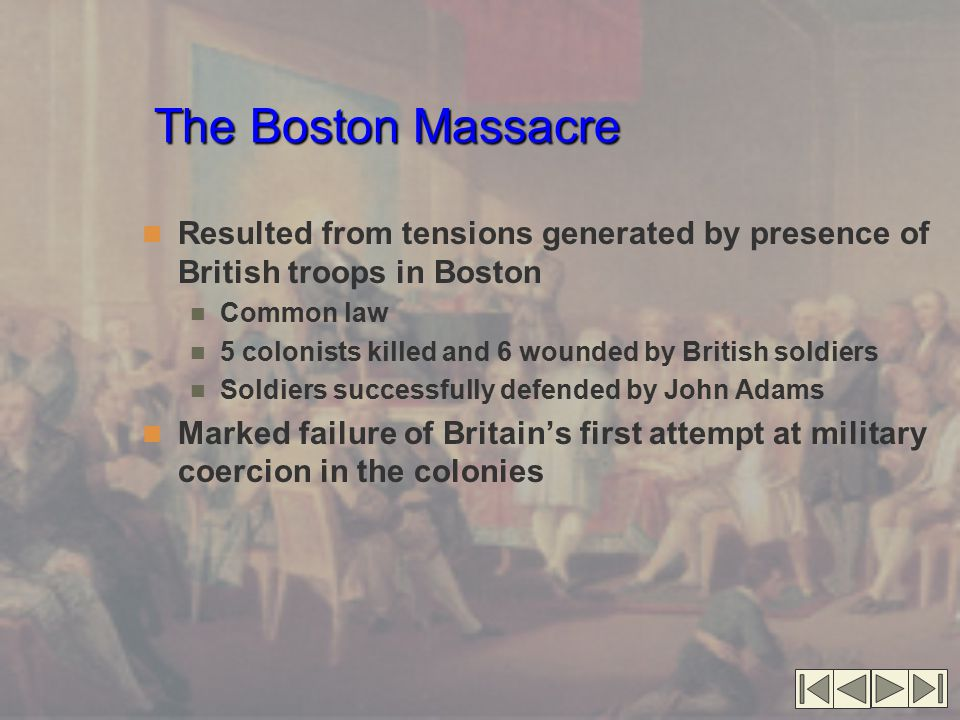 Discussion Questions What was the impact of the British decision to station troops in the colonies.