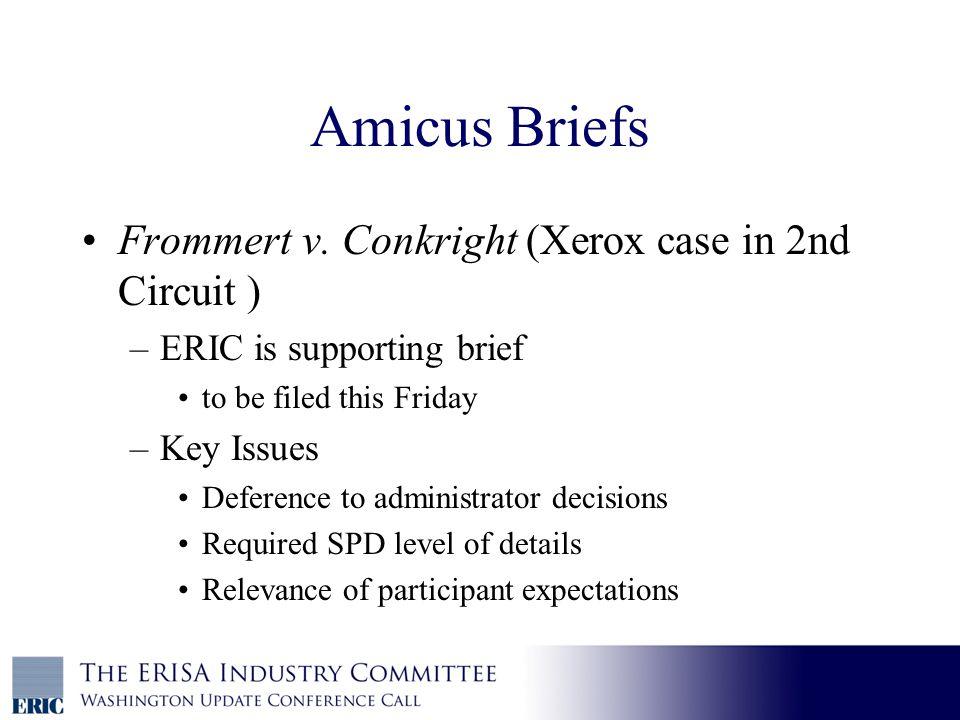 Amicus Briefs Frommert v.