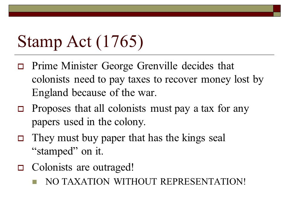 Riots and Repeal  Colonists protest by refusing to purchase stamps, attacking tax collectors, and even trying to bury one tax collector alive.