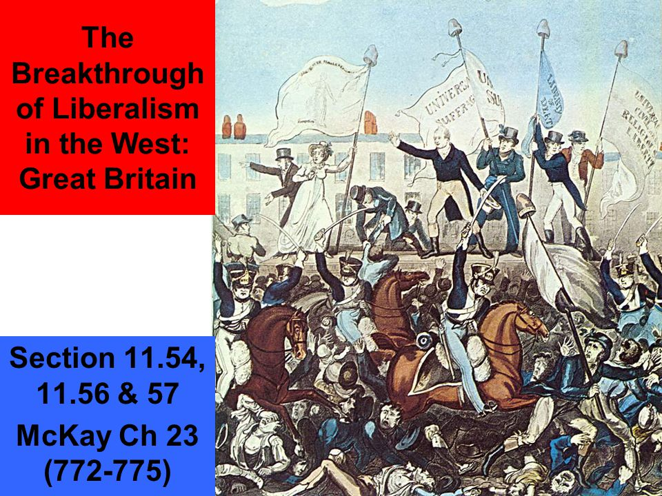 Great Britain 1815-1850 1815 1820 18251830 1835 1840 1845 1850 -Peterloo Massacre (1819) -Six Acts Passed -Cato Street Conspiracy -London Police Force formed (1828) -Catholic Emancipation Act (1829) -Irish Potato Famine begins -Corn Laws repealed (1846) Chartists issue Six Points (1836) Ten Hour Act (1847 Great Exhibition in Crystal Palace (1851) Great Reform Bill (1832) Corn Law passed Factory Act of 1853 Mines Act (1842)