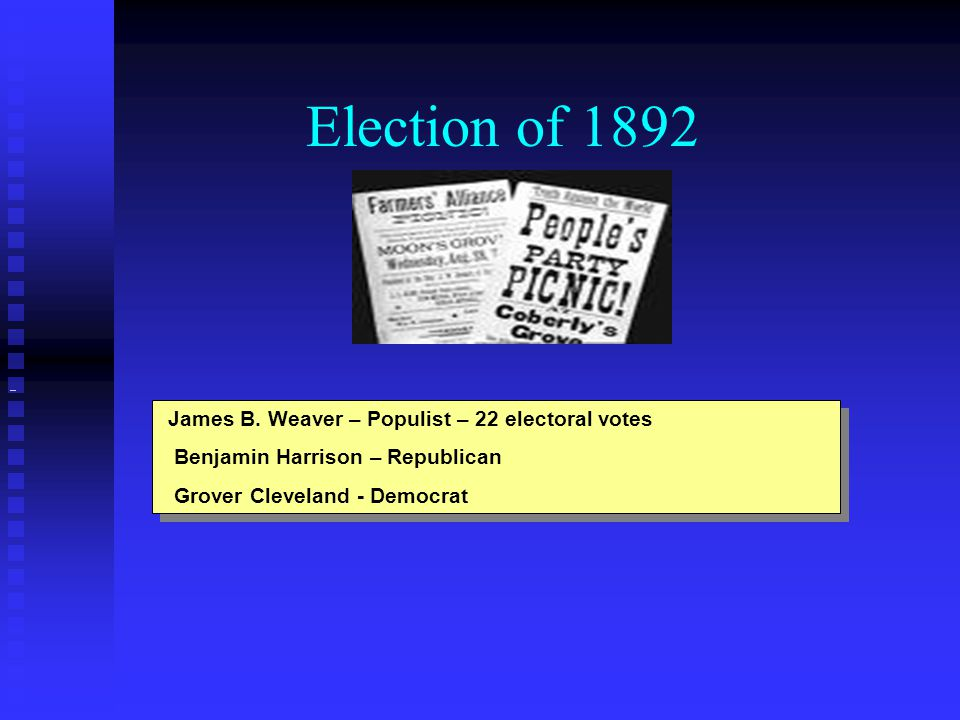 Election of 1892 James B.