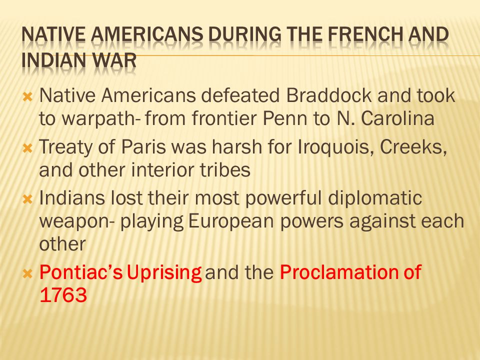  Native Americans defeated Braddock and took to warpath- from frontier Penn to N.
