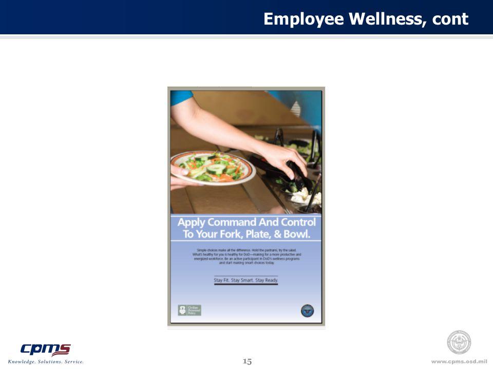 15 Employee Wellness, cont