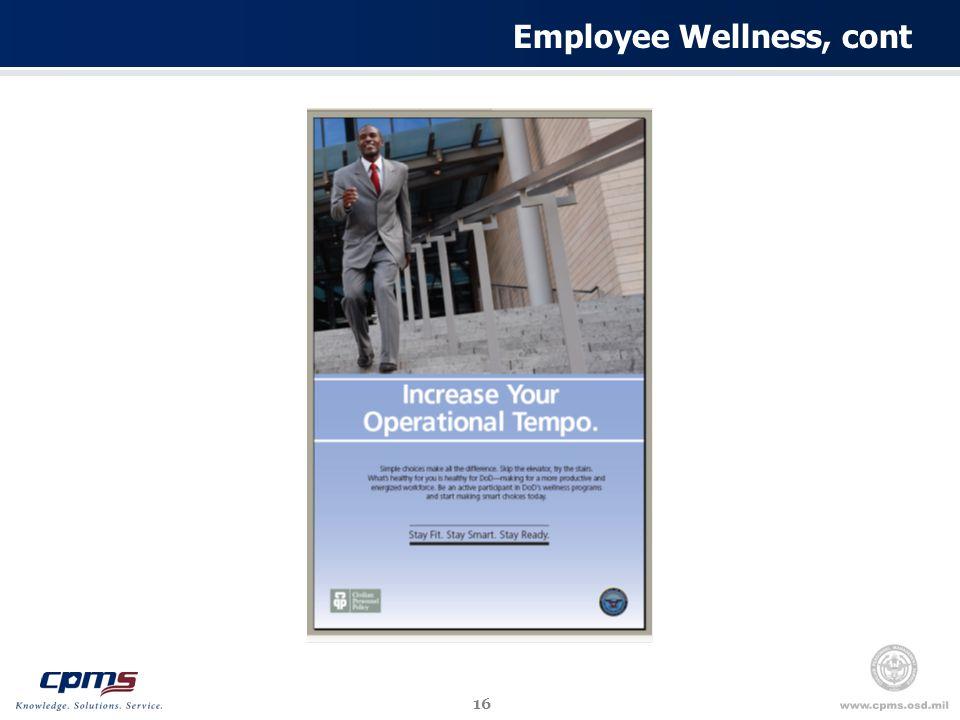 16 Employee Wellness, cont