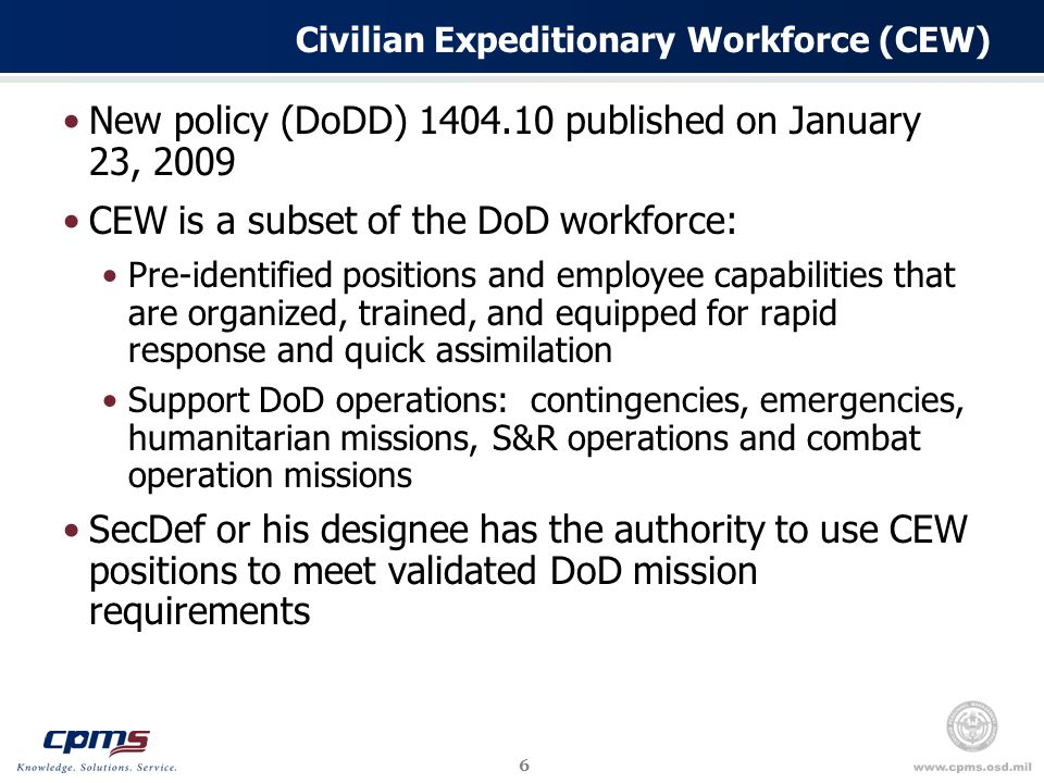 17 OPM Mandated Initiatives – Employee Satisfaction DoD-wide initiative to improve overall employee satisfaction and engagement in concert with Office of Management and Budget program objectives Emphasis on the drivers of employee engagement and satisfaction Managers/Supervisor Support Open Communication Career Enhancement opportunities Employees valued for contributions DoD-wide monthly Satisfaction and Engagement Information Campaign will be launched in March 2010 Dedicated to educating managers and supervisors on the drivers of employee satisfaction and engagement Monthly topics will be featured along with a variety of information to assist managers and supervisors Website is currently under development