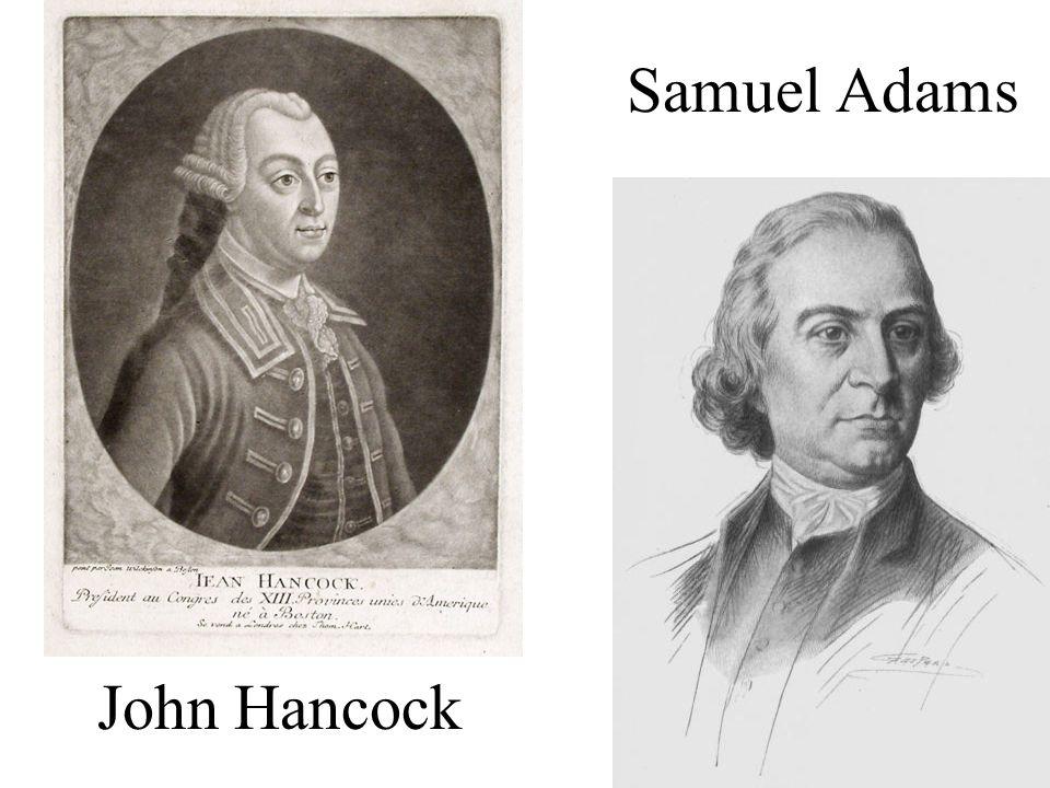 John Hancock Samuel Adams