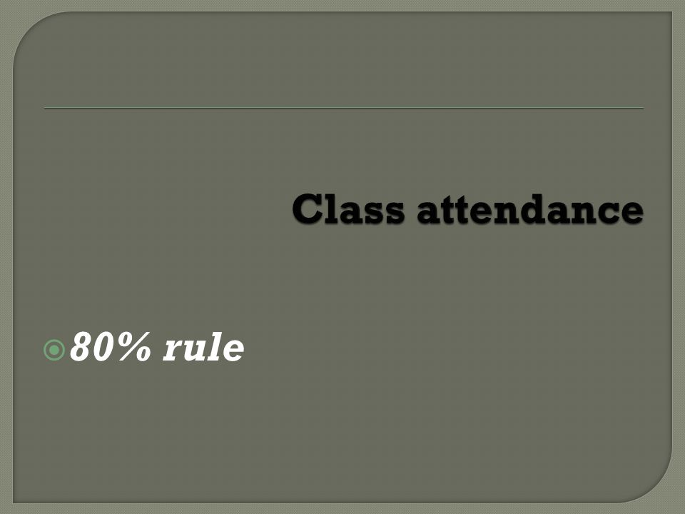 80% rule