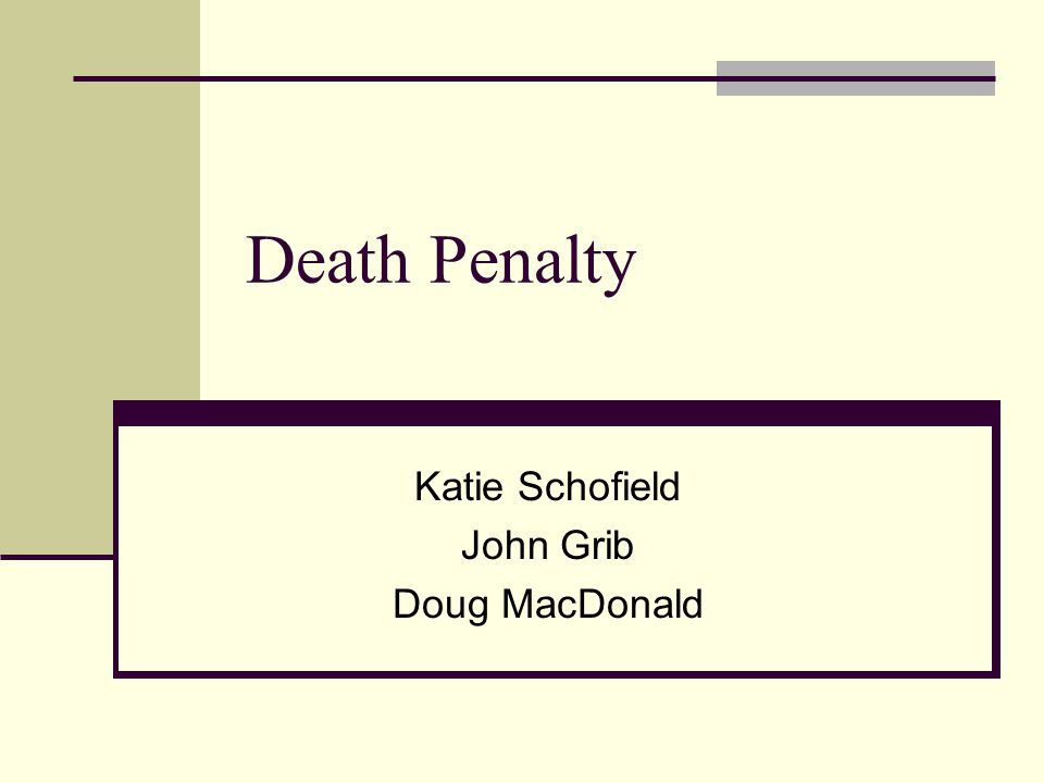 Introduction Sentence of death upon a person by the state as a punishment for an offence Crimes punishable by death are called capital crimes or offences Currently 58 countries practice the death penalty