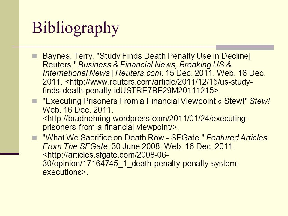 Bibliography Baynes, Terry.