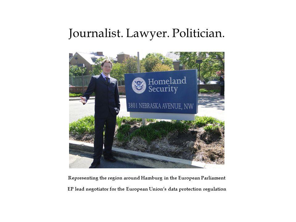 Journalist.Lawyer. Politician. Jan Philipp Albrecht, LL.M.