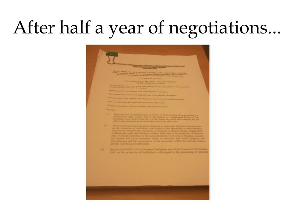 After half a year of negotiations...