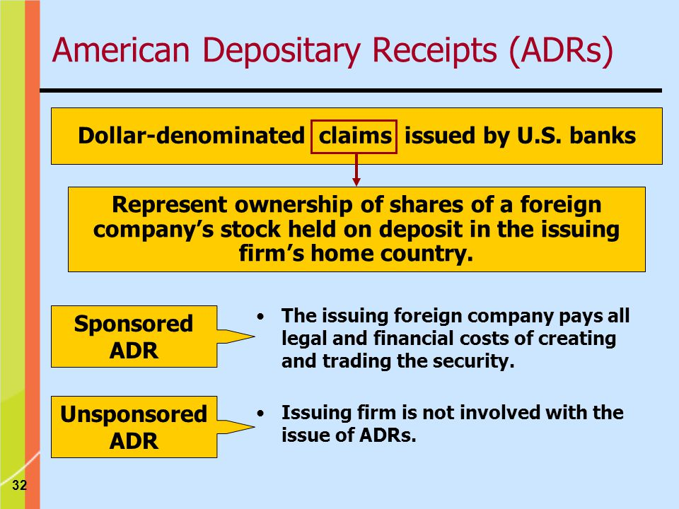 32 Dollar-denominated claims issued by U.S.