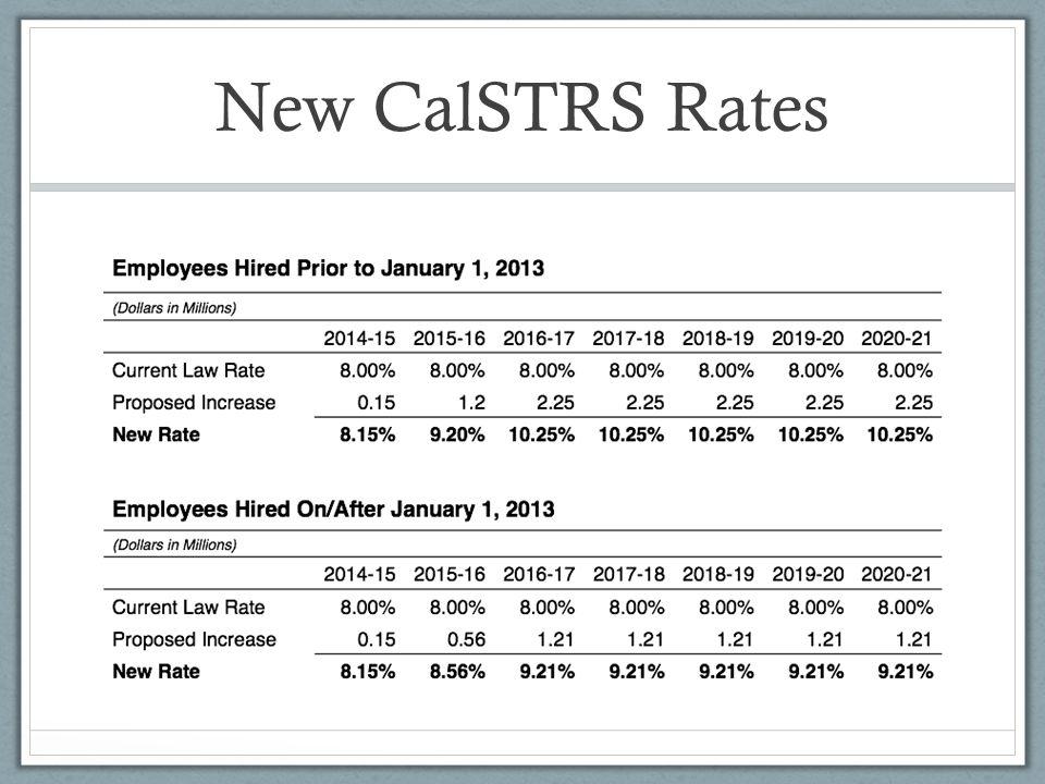New CalSTRS Rates