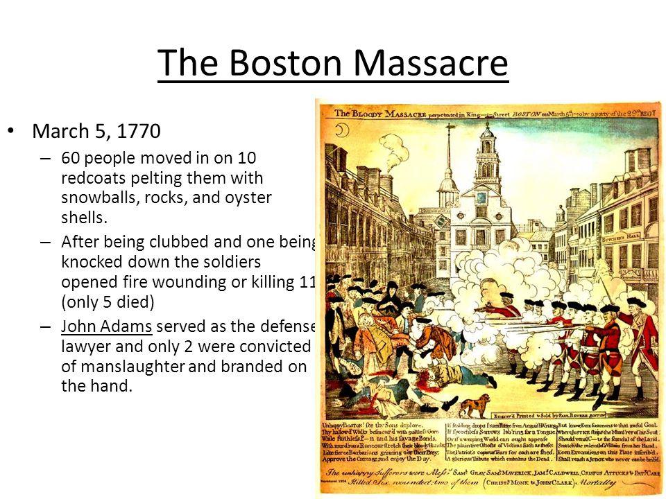 2 regiments of troops landed in Boston in 1768 to restore order.