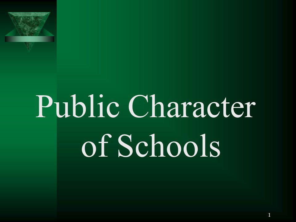 1 Public Character of Schools