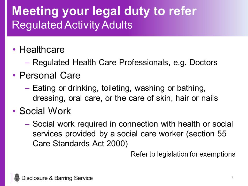 Meeting your legal duty to refer 18 Referral Form