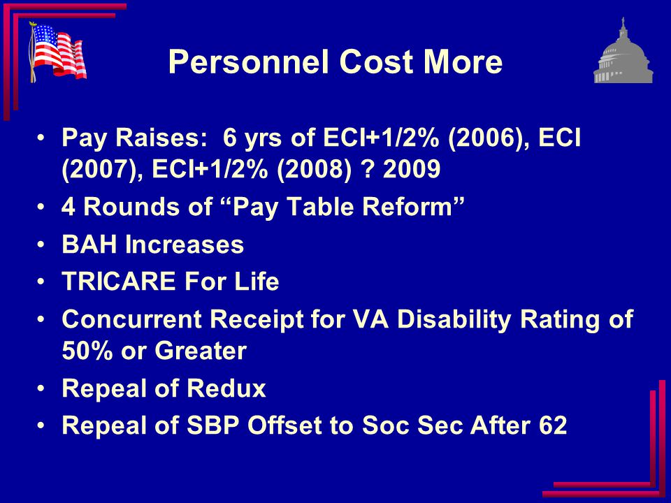Special Compensation for Wounded Warrior Caregivers Reserve Component Transition Assistance Prohibition of MIL-CIV conversions Expansion of TRICARE Dental to Survivors Healthcare Legislative Wins for 2009