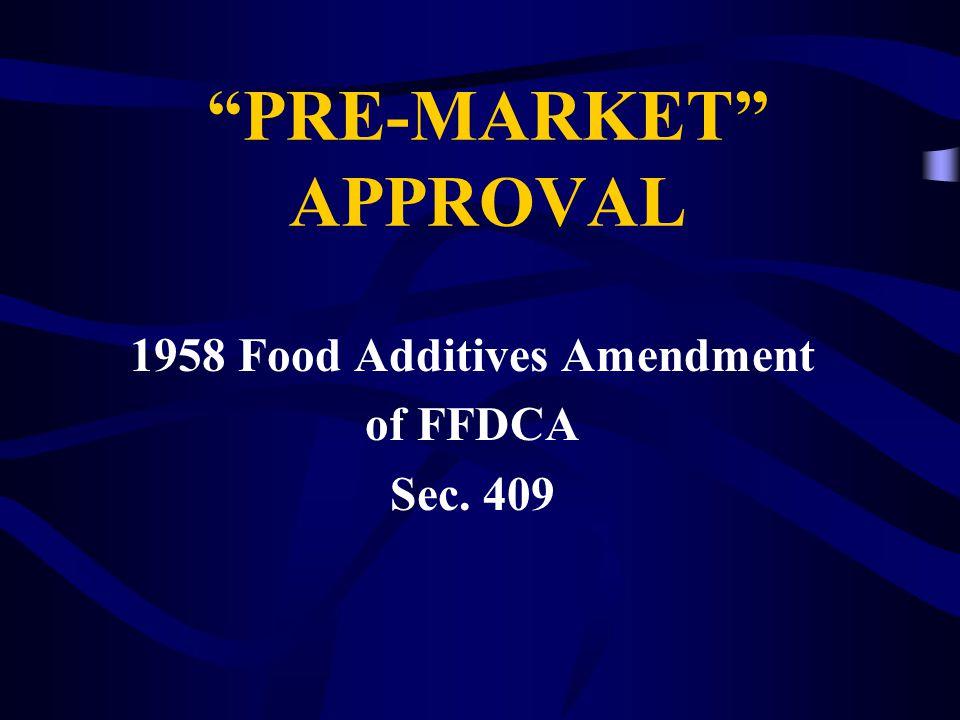 Regulations LAW NOT  Food Additive
