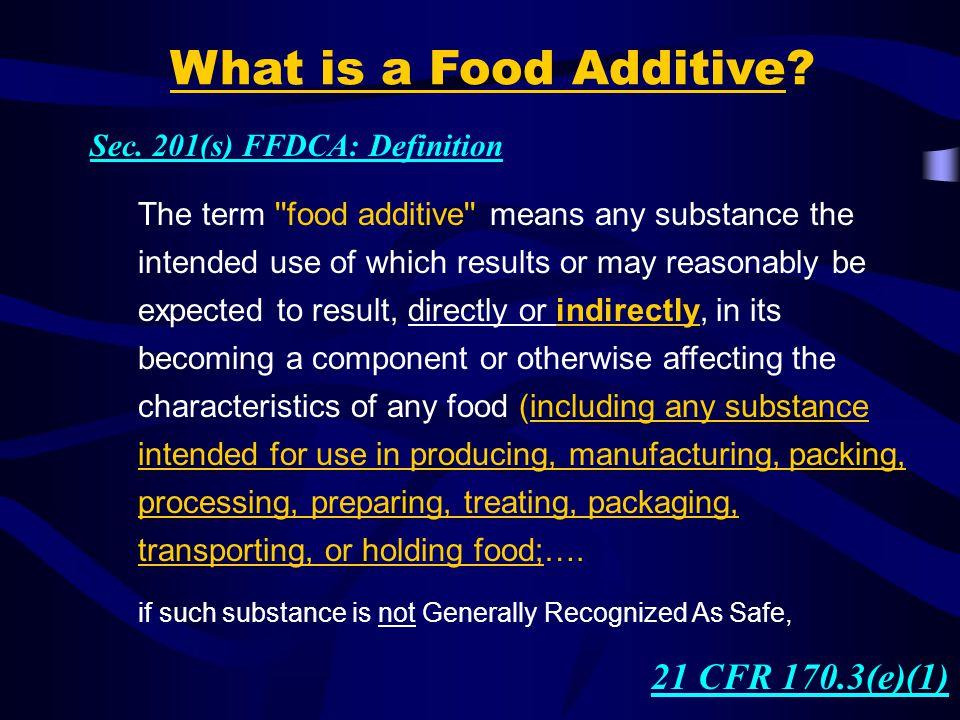 """""""PRE-MARKET"""" APPROVAL 1958 Food Additives Amendment of FFDCA Sec. 409"""
