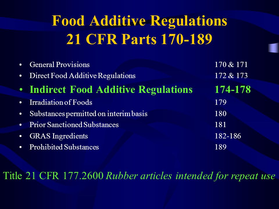 Brief Summary Food Additive Approvals Petitioner is responsible for demonstrating safety FDA is responsible for –Conducting a full and fair evaluation